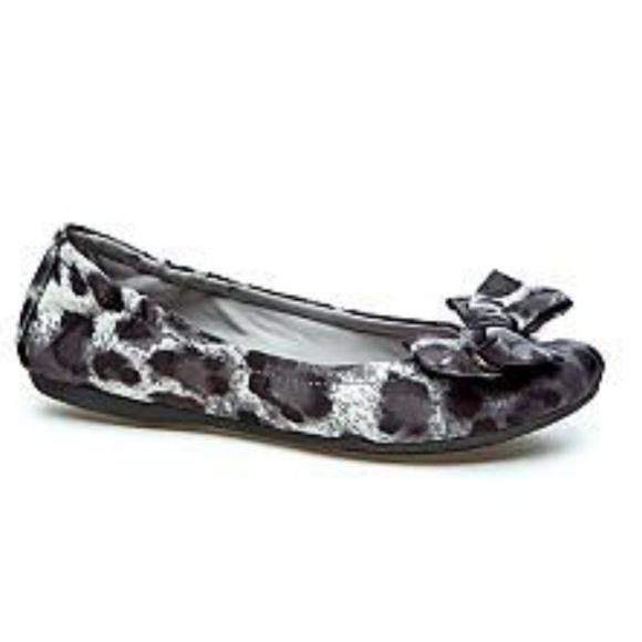 7a5e16bbb30 BareTraps Shoes - Bare Traps Lucy Leopard Print Ballet Flat with Bow